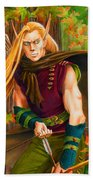 Elven Hunter Beach Towel