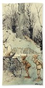 Elves In A Wood Beach Towel by Arthur Rackham