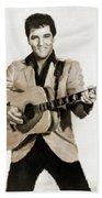 Elvis Presley By Mb Beach Towel