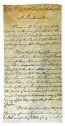 Emancipation Proc., P. 1 Beach Towel