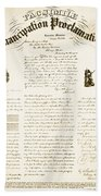 Emancipation Proclamation Beach Towel by Photo Researchers
