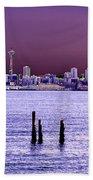 Emerald City Skyline Beach Towel