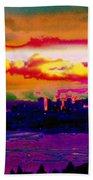 Emerald City Sunset Beach Towel
