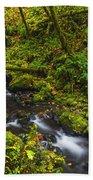 Emerald Falls And Creek In Autumn  Beach Towel