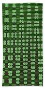 Emerald Green And Oak Stump Abstract Beach Towel
