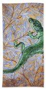 Emerald Lizard Beach Towel
