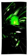 Emerald Nigthmares Abstract Beach Towel