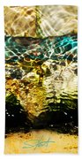 Emerald Ripples Beach Towel