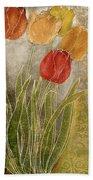 Emily Damask Tulips IIi Beach Towel
