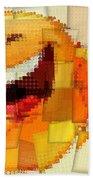 Emoticon Mosaic Cubism Beach Towel