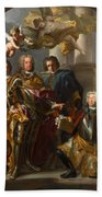 Emperor Charles Vi And Gundacker, Count Althann Beach Towel