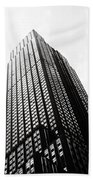 Empire State Building 1950s Bw Beach Towel