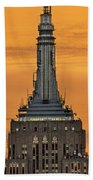 Empire State Building Esb Broadcasting Nyc Beach Towel