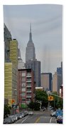 Empire State Empty Street Beach Towel