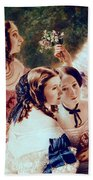 Empress Eugenie And Her Ladies In Waiting Beach Towel