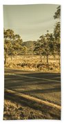 Empty Regional Australia Road Beach Towel