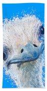 Emu Painting Beach Towel