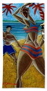 En Luquillo Se Goza Beach Towel by Oscar Ortiz