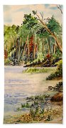 En Plein Air At Otter Falls Boat Launch Beach Towel