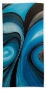 Enchanted Blue Waves Beach Towel
