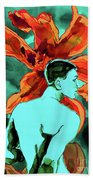 Enchanted Boy With Lilies Beach Towel