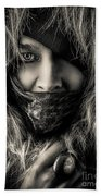 Enchanted Concept Black And White Beach Towel