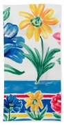 Enchanted Florals Beach Towel