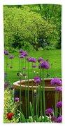 Enchanted Garden Beach Towel