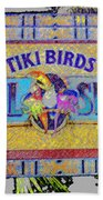 Enchanted Tiki Birds Beach Towel