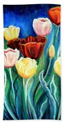 Enchanted Tulips Beach Towel