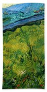 Enclosed Wheat Field With Rising Sun, By Vincent Van Gogh, 1889, Beach Towel