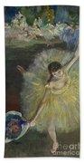 End Of An Arabesque Beach Towel by Edgar Degas