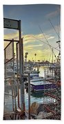 End Of Fishing Day Beach Towel