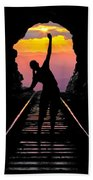 End Of The Line Beach Towel