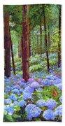 Endless Summer Blue Hydrangeas Beach Sheet