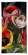 Energetic Tulips Beach Towel
