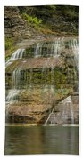 Enfield Falls Tompkins County New York Beach Towel