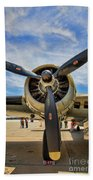 Engine B-17 Beach Towel
