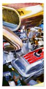 Engine Compartment 5 Beach Towel