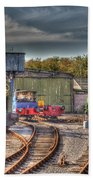 Engine Sheds Quainton Road Buckinghamshire Railway Beach Towel