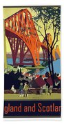 England And Scotland, Bridge Beach Towel
