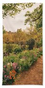 England - Country Garden And Flowers Beach Towel