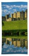 England, Northumberland, Alnwick Castle Beach Towel