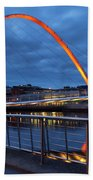 England, Tyne And Wear, Gateshead Millennium Bridge. Beach Towel