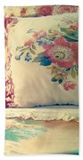 English Chintz With Green Tone Beach Towel
