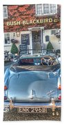 English Pub English Car Beach Towel