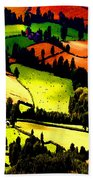 English Summer Fields Beach Towel