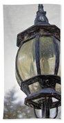 English Victorian Style Park Lamp Beach Towel