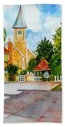 English Village Street Beach Towel