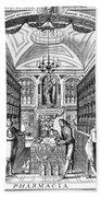 Engraving Of Pharmacy, Geiger, 1651 Beach Towel